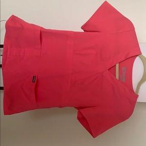 Bright Pink Scrub Top